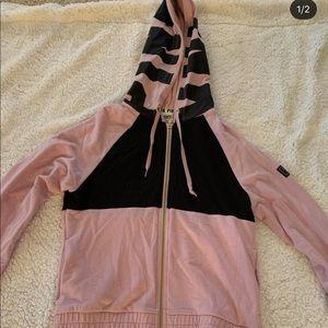 XS pink zip up hoodie